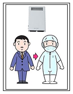 壁掛け型 石英ランプ式オゾン発生機