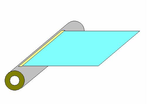 耐熱耐薬品絶縁保護テープによるフィルムの巻取の端面固定