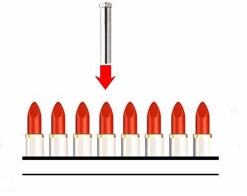 口紅の仕上げ-熱風ヒーターの活用法