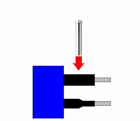 熱風ヒーターによる熱収縮チューブの加熱