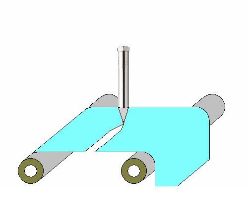 熱風ヒーターによる樹脂シート材の加熱切断