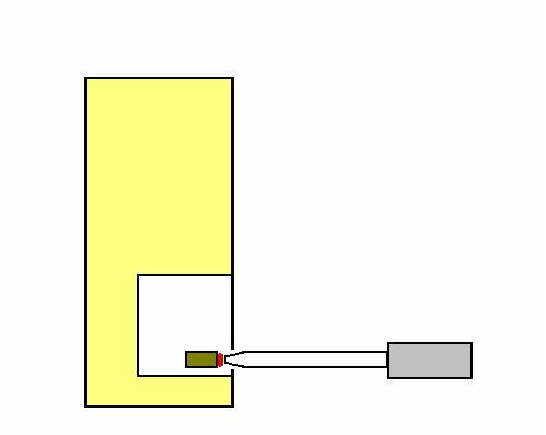 熱風ヒーターによる電子顕微鏡の試料の加熱