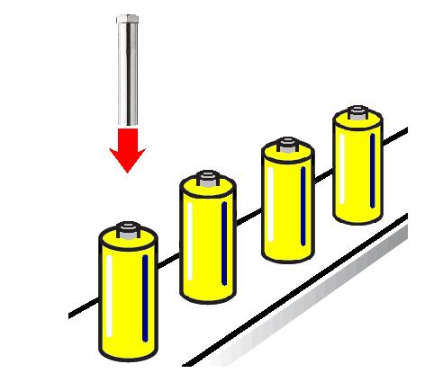 熱風ヒーターによるリチウム電池のヒートシュリンク
