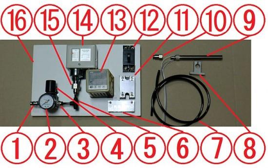 熱風ヒーター ラボキット 100v-350w-10PS 外部エアー仕様 組立例