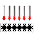 エンジンブロックの水切乾燥