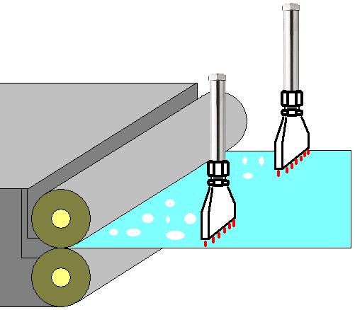 熱風ヒーターによる表面処理鋼板の水切乾燥