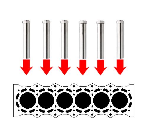熱風ヒーターによるエンジンブロックの水切乾燥