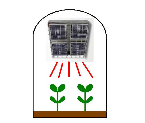 遠赤外線パネルヒーターによる植物工場の成長・発芽促進用光源