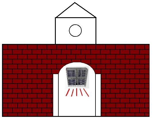 遠赤外線パネルヒーターによる玄関ホールの暖房