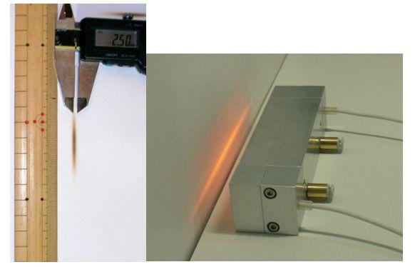 HLH-30W/f20/L84 ※焦げ目 幅約2.5mm×長さ約30mm ※20%電圧で照射