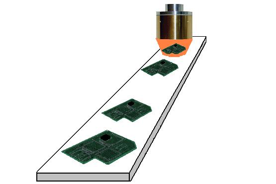 ハロゲンポイントヒーターによるプリント基板の予熱