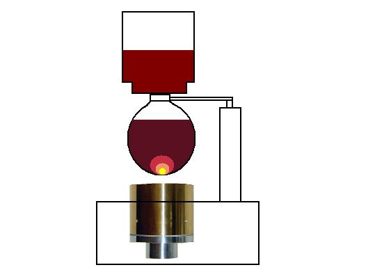 ハロゲンポイントヒーターによる光サイフォン