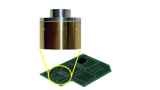 ハロゲンポイントヒーターによる印字の乾燥