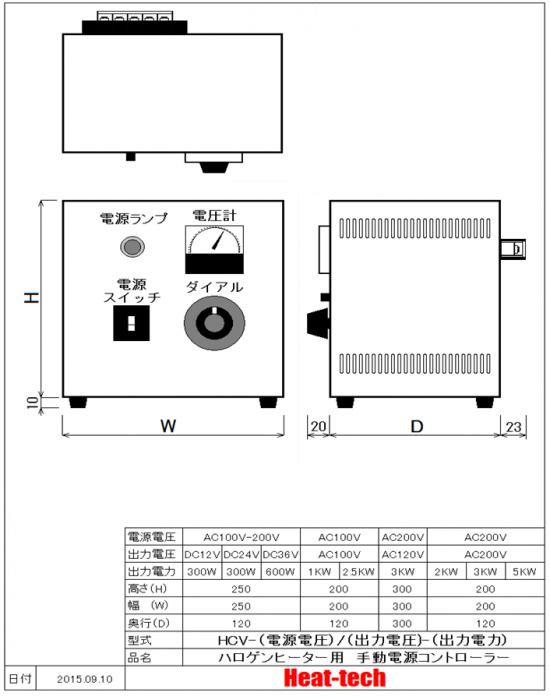 水冷式ハロゲンポイントヒーターHPH-160W