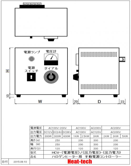 超小型 ハロゲンポイントヒーター HPH-18 外形図