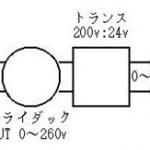 スライダック+減圧トランス(主に低電圧ランプ用)