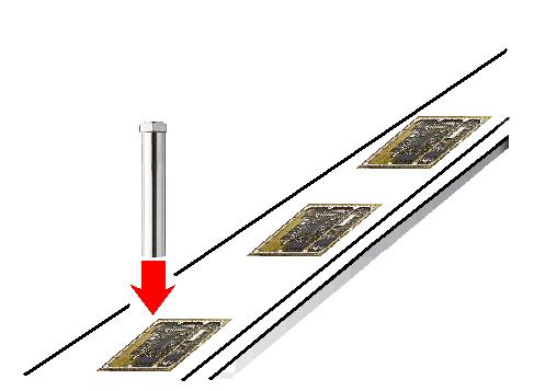 熱風ヒーターによるプリント基板のエイジング
