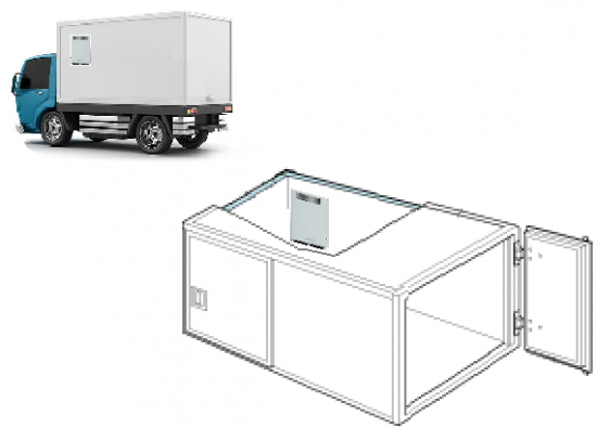 オゾン型殺菌消臭器による配送車保冷庫の除菌