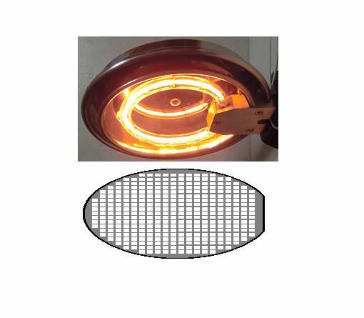 シリコン・ウエハーの乾燥-ハロゲンリングヒーターの活用法