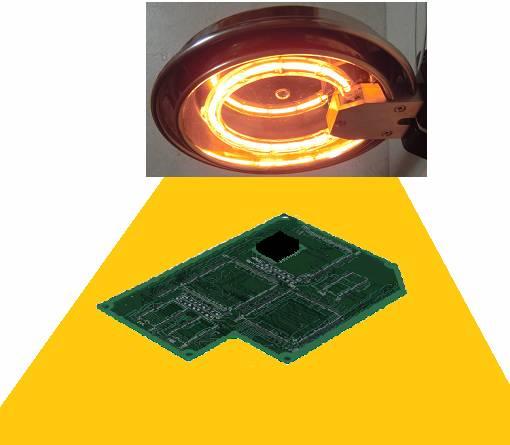 プリント基板の予熱-ハロゲンリングヒーターの活用法