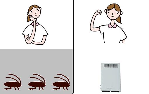 オゾン型殺菌消臭器によるゴキブリ対策