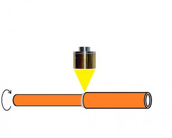 ハロゲンポイントヒーターによる燃料電池車配管のロウ付け