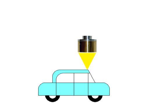 ハロゲンポイントヒーターによるシ-ラ-のポイント加熱乾燥