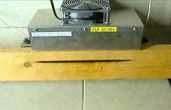 木材の線加熱-ハロゲンラインヒーター ラボキット HLH-55A/f25-200v-2kw