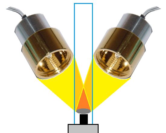 ハロゲンポイントヒーターによる集光型CVD加熱炉の光熱源