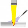 レーザー溶接のシールドガスの加熱