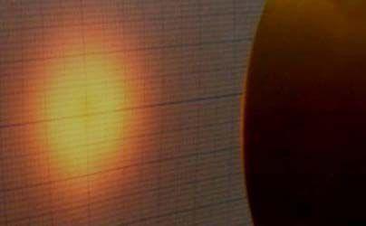 f=30の機種を45mmの距離で照射