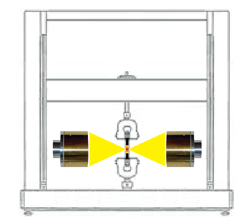 引張試験機の温度設定(非磁性体・高温素材)-ハロゲンポイントヒーターの活用法