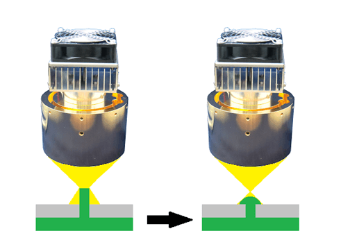樹脂ボスの赤外線熱カシメ-ハロゲンポイントヒーターの活用法