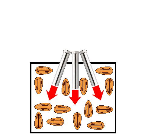アーモンドナッツの熱風焙煎-熱風ヒーターの活用法