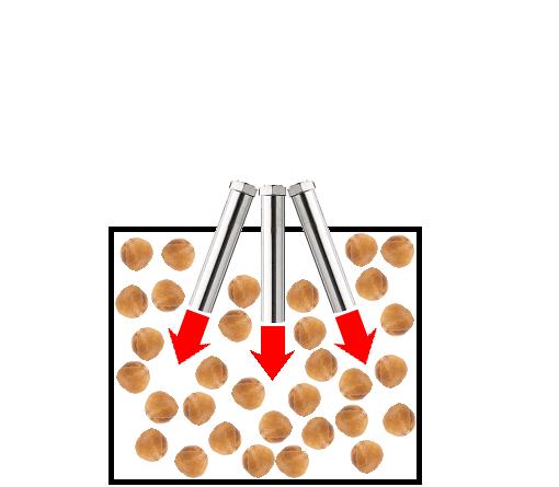 ヘーゼルナッツの熱風焙煎-熱風ヒーターの活用法