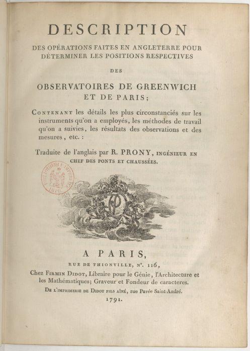 ●ドプロニ(Gaspard Clair François Marie Riche de Prony 1755-1839フランスの数学者・水力エンジニア