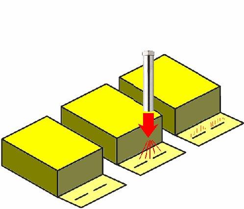 熱風ヒーターによるホットメルトの再溶解化