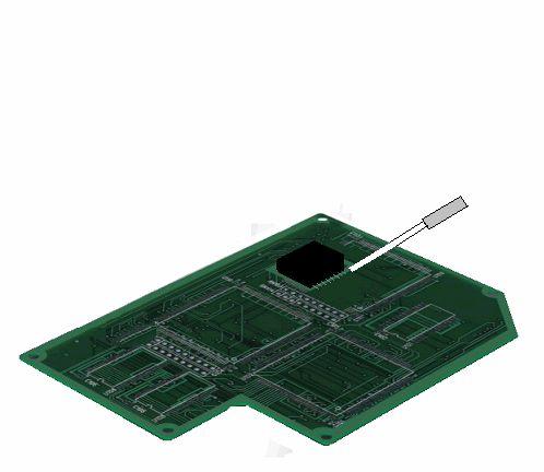 熱風ヒーターによるプリント基板のハンダ付け