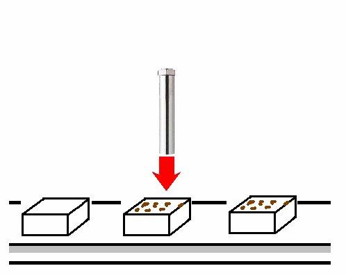 熱風ヒーターによる焼き豆腐の加工