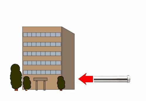 熱風ヒーターによるビルのタイルの接着強度テスト