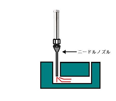 熱風ヒーターによる加工穴の乾燥