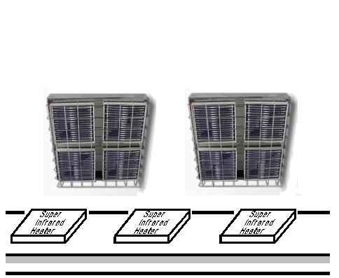 遠赤外線パネルヒーターによるシルク印刷の乾燥