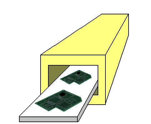 遠赤外線パネルヒーターによるプリント基板のリフロー