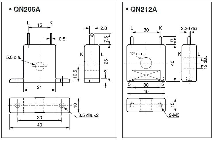 外形寸法~QN206A・QN212A