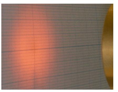 (図4) f=15の機種を30mmの距離で照射