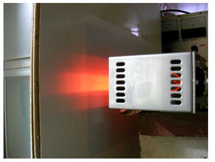 照射距離40mm、強い加熱幅は約20mm、温度 約 1190℃