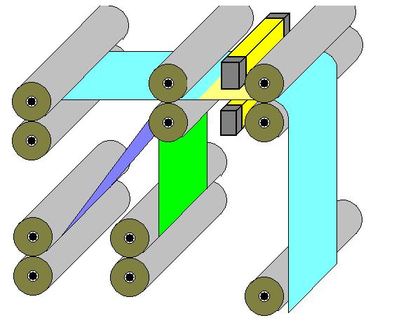 ハロゲンラインヒーターによるラミネート加工
