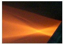 集光型ハロゲンラインヒーターの照射距離と集光状態