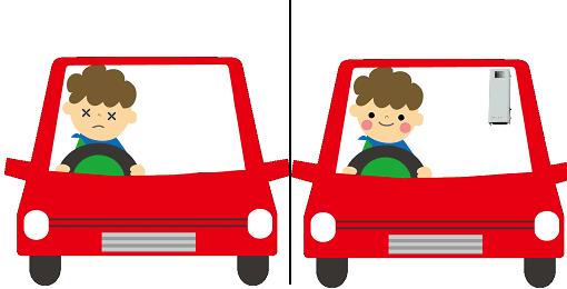 オゾン型殺菌消臭器による車のにおいの脱臭
