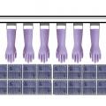 ゴム手袋の加熱乾燥-遠赤外線パネルヒーターの活用法